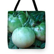 Green Tomatoes On The Vine Tote Bag