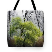 Green Tree And Pampas Grass Tote Bag