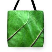 Green Veiny Leaf 2 Tote Bag