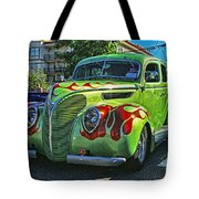 Green With Flames Hdr Tote Bag
