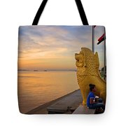 Greeting The Dawn. Tote Bag