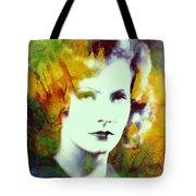 Greta Garbo Abstract Pop Art Tote Bag