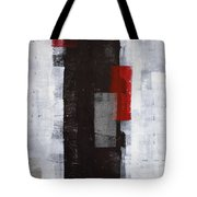 Power Trip - Grey And Red Abstract Art Painting Tote Bag