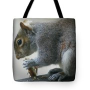 Grey Squirrel Dining Out Tote Bag