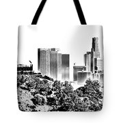 Griffith And Los Angeles Etched Tote Bag