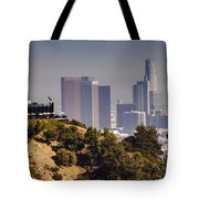 Griffith And Los Angeles Tote Bag
