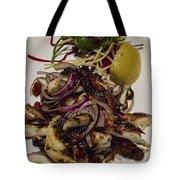 Griiled Fresh Greek Octopus Tote Bag by David Smith