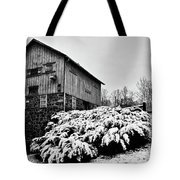 Grist Mill In Winter - Hdr Tote Bag