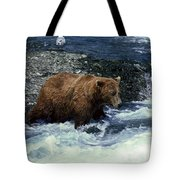 Grizzly Bear Fishing Tote Bag