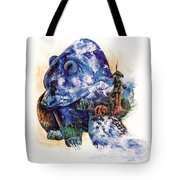 Grizzly Blue Tote Bag