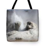 Grotto Geyser Eruption, Upper Geyser Tote Bag