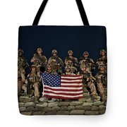 Group Photo Of U.s. Marines Tote Bag