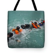 Group Swimming Technique During A Water Tote Bag