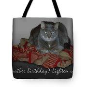 Grumpy Cat Birthday Card Tote Bag