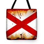 Grunge Style Alabama Flag Tote Bag
