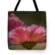 Grungey Pink Zinnia Delight Tote Bag