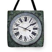 Grungy Clock Tote Bag