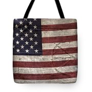 Grungy Textured Usa Peace Sign Flag Tote Bag