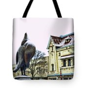 Guard Pigeon And Liberty Theater Tote Bag