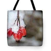 Guelder Rose In The Snow Tote Bag