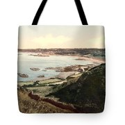 Guernsey - Rocquaine Bay - Channel Islands - England Tote Bag