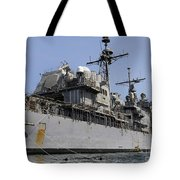 Guided Missile Cruiser Uss Bunker Hill Tote Bag