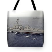 Guided Missile Destroyers Uss Dewey Tote Bag