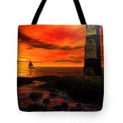 Guiding Light - Lighthouse Art Tote Bag