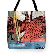 Guinea Fowl Drinking Tote Bag