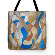 Guitar And Palette Tote Bag