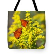 Gulf Fritilaries On Golden Rod Tote Bag