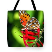 Gulf Fritillary Tote Bag by Skip Willits