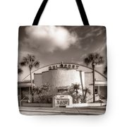 Gulfport Casino In Sepia Tote Bag