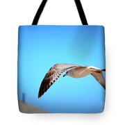 Gull On The Wing Tote Bag
