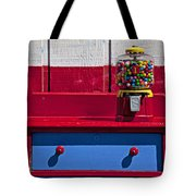Gum Ball Machine On Red Desk Tote Bag