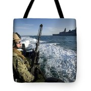Gunner Mans A .50-caliber Machine Gun Tote Bag