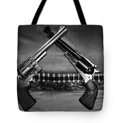 Guns In Black And White Tote Bag