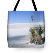 Gypsum Dunes And Yucca Tote Bag