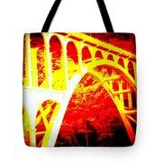 Haceta Head Bridge In Abstract Tote Bag