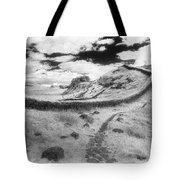 Hadrians Wall Tote Bag by Simon Marsden