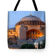 Hagia Sophia At Dusk Tote Bag by Artur Bogacki