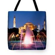 Hagia Sophia At Night Tote Bag