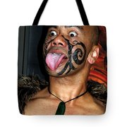 Haka Dancer In Queenstown Tote Bag