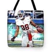 Hakeem Nicks - Sports - Football Tote Bag by Paul Ward