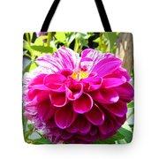 Half And Half Flower Tote Bag