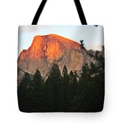 Half Dome Alpenglow Tote Bag