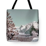 Half Dome In The Snow Tote Bag