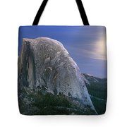 Half Dome Moon Rise Tote Bag