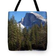 Half Dome Winter Tote Bag