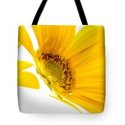 Half Yellow Gerbera Tote Bag
